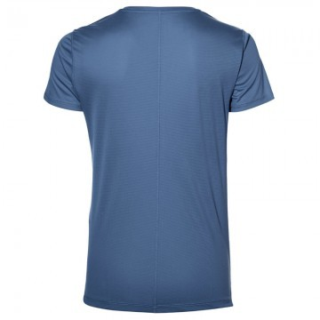 Asics Silver Short Sleeve Top Blue